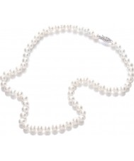 Purity 925 PUR6145 Damas blanco collar de perlas de 45cm