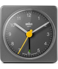 Braun BNC002GYGY Square reloj de alarma de color gris