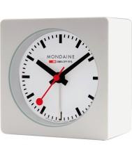 Mondaine A996-ALIG-10SBB reloj de alarma cubo blanco