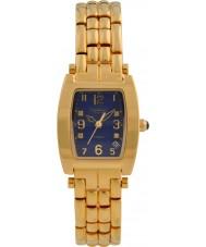 Krug-Baumen 1964DLG Tuxedo oro 4 diamante de la correa de oro esfera azul