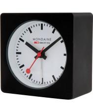 Mondaine A996-ALIG-20SBB reloj de alarma cubo negro