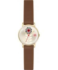 Orla Kiely OK2094 reloj de la correa de cuero marrón de las señoras Valentina