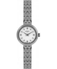 Rotary LB02086-02 Relojes de reloj de acero de plata