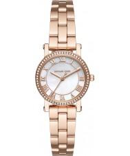 Michael Kors MK3558 Norie damas chapado en oro rosa reloj pulsera