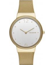 Skagen SKW2519 Señoras de oro plateado freja malla de reloj