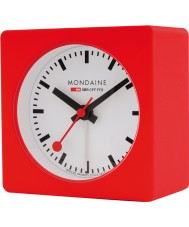 Mondaine A996-ALIG-30SBB reloj de alarma roja del cubo