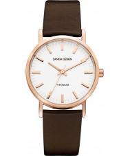 Danish Design Q17Q199 Reloj para hombre de la correa de cuero marrón