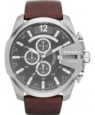 Diesel DZ4290 Mens Mega jefe negro reloj cronógrafo marrón