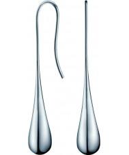 Calvin Klein KJ3QME000100 Damas elipse de acero pendientes de plata