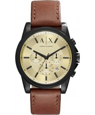 Armani Exchange AX2511 Mens outerbanks reloj cronógrafo de color marrón oscuro