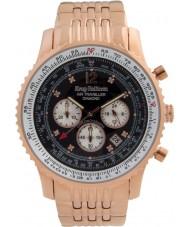 Krug-Baumen 600602DS reloj de diamantes viajero aéreo para hombre