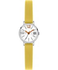 Orla Kiely OK2007 Frankie damas reloj de la correa de cuero amarillo