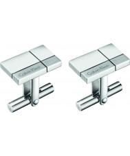 Calvin Klein KJ3PMC090100 Mens construidos gemelos de acero tono de plata