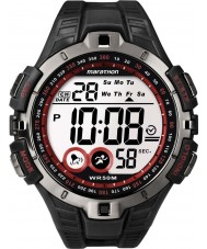 Timex T5K423 Para hombre reloj deportivo de color rojo maratón negro