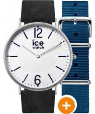 Ice-Watch CHL.B.FIN.41.N.15 Para hombre de hielo de la ciudad reloj con nylon azul y correas de cuero negro