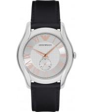 Emporio Armani AR1984 Reloj para hombre de la correa de cuero negro clásico