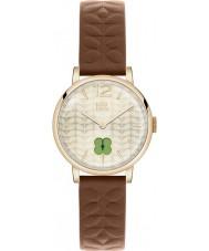 Orla Kiely OK2008 Frankie damas reloj de la correa de cuero marrón