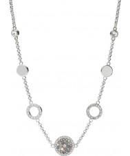 Fossil JF02312040 Damas Glitz del vintage collar de acero de plata