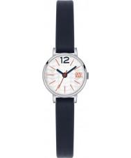 Orla Kiely OK2009 Frankie damas reloj de la correa de cuero azul marino