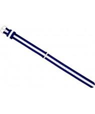 Daniel Wellington DW00200074 Las señoras con clase de plata 21.5mm Glasgow blanco y azul marino de nylon azul correa de repuesto