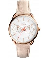 Fossil ES4007 Damas a medida reloj correa de cuero de color marrón claro