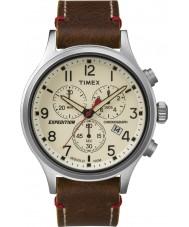 Timex TW4B04300 reloj cronógrafo para hombre de cuero marrón expedición exploradora