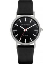 Danish Design Q13Q199 Reloj para hombre de la correa de cuero negro