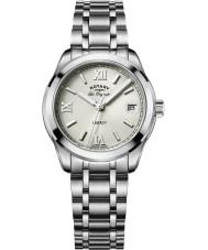 Rotary LB90173-06 reloj de pulsera de acero plata Relojes de legado