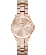 DKNY NY2367 Parsons señoras reloj chapado en oro rosa