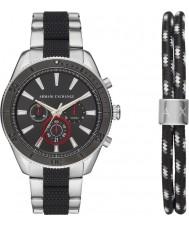 Armani Exchange AX7106 Conjunto de regalo para reloj deportivo para hombre