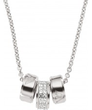 Emporio Armani EG3046040 collar de plata de las señoras de la firma con cadena rolo de plata