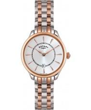 Rotary LB02917-02 Relojes de Elise dos tonos reloj de oro rosa