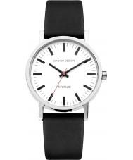 Danish Design Q12Q199 Reloj para hombre de la correa de cuero negro
