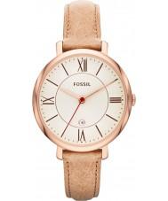 Fossil ES3487 Señoras de arena Jacqueline reloj correa de cuero