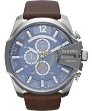 Diesel DZ4281 Mens Mega jefe de azul reloj cronógrafo marrón