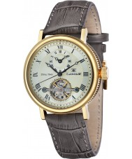 Thomas Earnshaw ES-8047-03 Mens Beaufort reloj correa de cuero marrón de barro