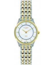 Rotary LB08001-02 Las señoras de ultra delgado reloj de dos tonos