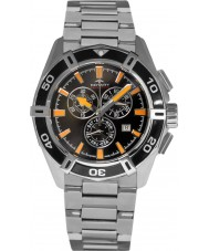 Rotary AGB90088-C-04 Mens AQUASPEED reloj cronógrafo de plata negro pacífico