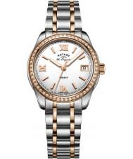 Rotary LB90175-01 Relojes de legado en dos tonos reloj pulsera de acero