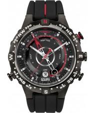Timex T2N720 Mens todo el reloj de temperatura Brújula marea negro
