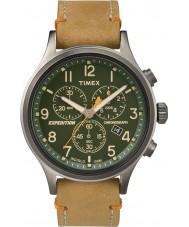 Timex TW4B04400 reloj cronógrafo para hombre de cuero tan expedición exploradora