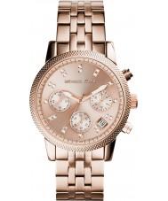 Michael Kors MK6077 Damas Ritz chapado en oro rosa reloj cronógrafo