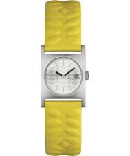 Orla Kiely OK2129 Damas nemo reloj de la correa de cuero amarillo
