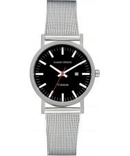 Danish Design V63Q199 Las señoras reloj pulsera de malla de acero de plata