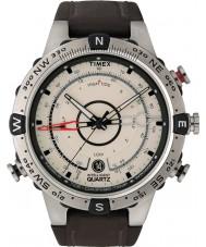 Timex T2N721 Reloj para hombre brújula natural de marea marrón temp