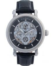 Krug-Baumen 60211DM Reloj para hombre de la correa de cuero negro majestuoso