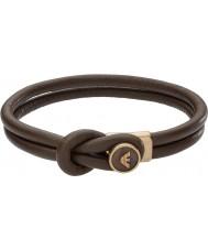 Emporio Armani EGS2213251 Mens firma marrones pulseras de cuero