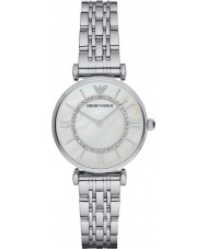 Emporio Armani AR1908 Las señoras de plata chapado en enlace de pulsera de reloj de vestir