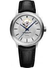 Raymond Weil 2227-STC-65001 Reloj para hombre de la correa de cuero negro maestro