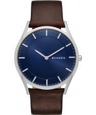 Skagen SKW6237 Mens Holst reloj de la correa de cuero de color marrón oscuro